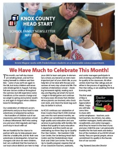 School Family Newsletter | Knox County Head Start